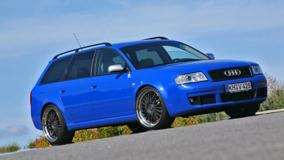 Blue Mfk Powercar Audi Rs6 Side Pose